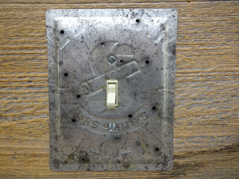 Light Switch Covers Made From Vintage Mrs. Smiths Pie Baking Pans