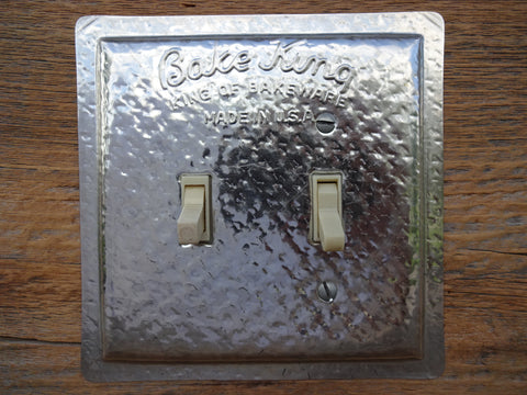 Switch Plates Made From Vintage Bake King Baking Pans