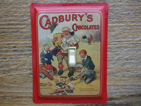 Switch Plate Made From A Cadburys Chocolate Tin In Red