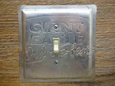 Switch Plates Made From Vintage Giant Eagle Baking Cake Pans