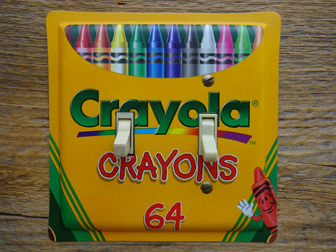 Crayola 64 Crayons Tin Double Switch Plate