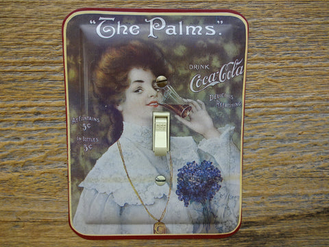 Coke Switch Plates Made From Vintage Coca Cola Tins Victorian Theme On Sale