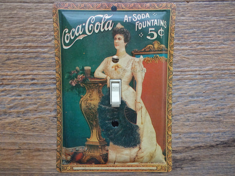 Victorian Switch Plates Made From Vintage Coke Tins