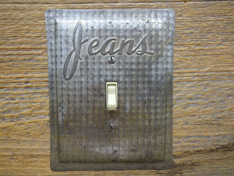 Vintage Switch Plates Made From Jean's Baking Pans