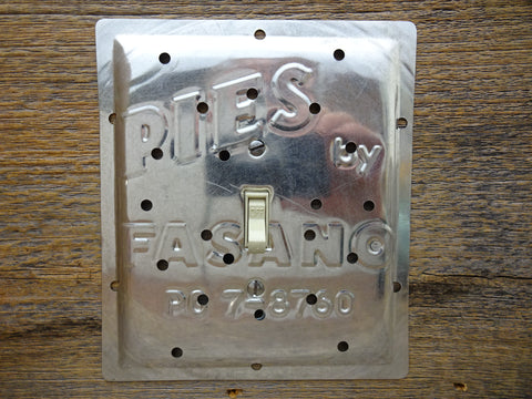 Vintage Switch Plates Made From Fasano Pie Pans