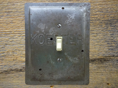 Vintage Koester Baking Pan Switch Plates Made From Unique Pie Pans