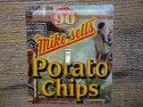 Mikes Sells Potato Chips Tin Handmade Switch Plate 50% Off Clearance