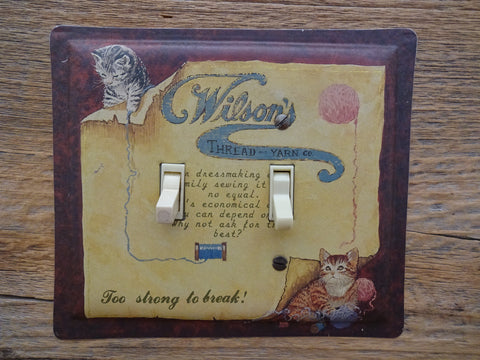 Switch Plates Made From An Old Wilsons Yarn Tins