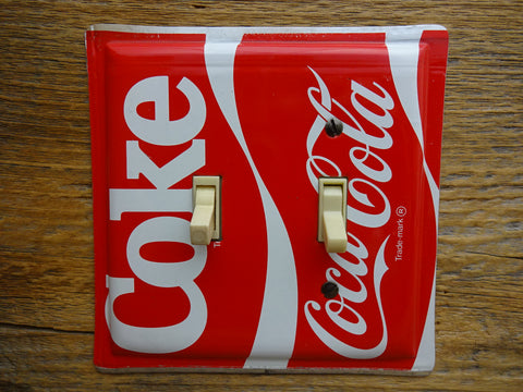 Coke Switch Plates Made From Coca Cola Tins