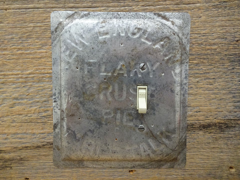 Off Center Single Switch Double Wide Switchplate Vintage Table Talk New England Pie Pan SP-0336XX