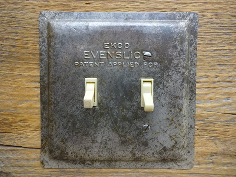 Switch Plates Made From Vintage Evenslice Pie Pans