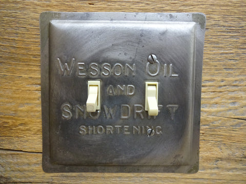 Switch Plates Made From Vintage Wesson Oil Snowdrift Shortening Pans