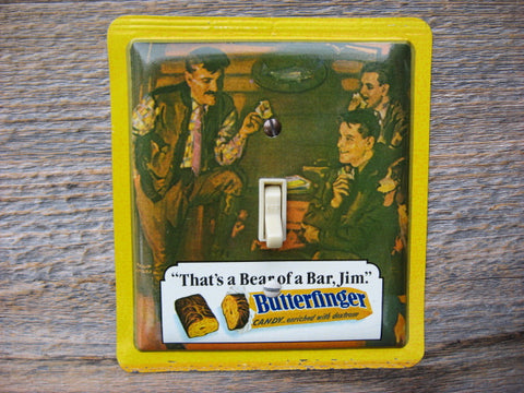 Butterfinger Candy Bar Tin Switch Plate 50% Off Clearance