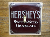 Hersheys Chocolate Tin Switch Plates Made from Tins