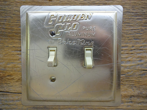 Vintage Bake King Golden Glo Pan Aluminum Switch Plate Copper Tone