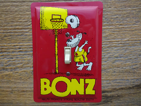 Switch Plate Made From A Bonz Dog Treats Tin SP-0358* - Tin Can Sally