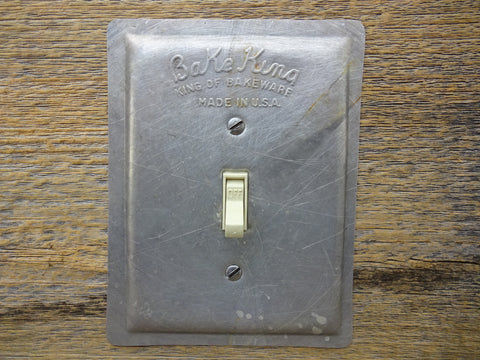 Vintage Bake King Baking Pans Aluminum Light Switch Plates