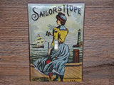 Switch Plates Made From Sailors Hope Tobacco Tins With Nautical Theme