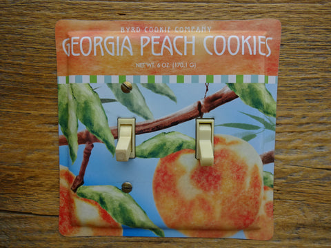 Switch Plates Made From Byrd Georgia Peach Cookie Tins