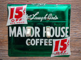 Vintage McLaughlins Manor House Coffee Tin Double Switch Plates On Sale