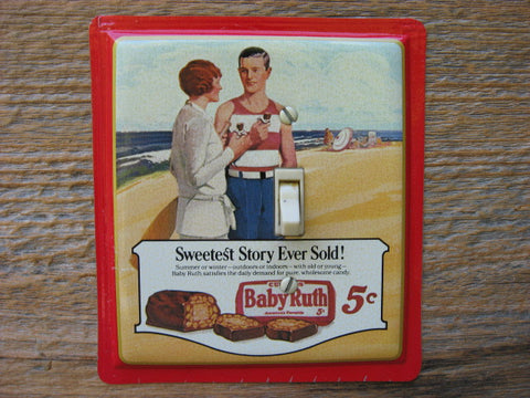 Light Switch Cover Made From An Old Baby Ruth Tin
