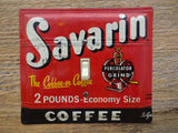 Vintage Switch Plates Made From Savarin Coffee Tins