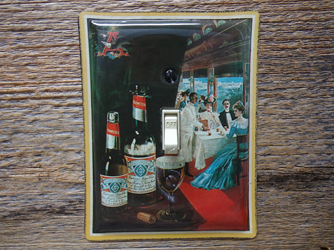 Budweiser Beer Tin Switch Plate For The Man Cave 50% Off Clearance