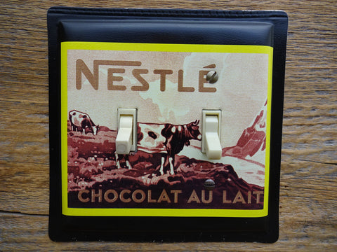 Switch Plates Made From Nestle Chocolate Tins With Cow