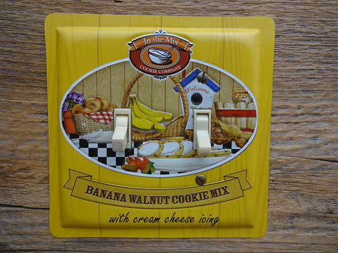 Double Switch Plate Made From A Banana Walnut Cookie Mix Tin On Sale