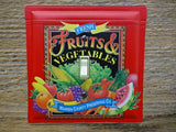 Switch Plates Made From Fruits And Vegetables Themed Tins