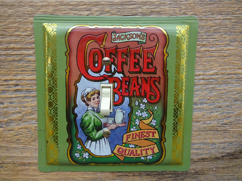 Reproduction Coffee Tin Switch Plates Handmade By Tin Can Sally