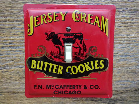 Switch Plates Made From Jersey Cream Butter Cookie Tins