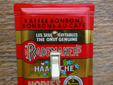 Switch Plates Made From Rademakers Hopjes Coffee Candy Tins
