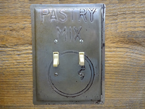 Vintage Switch Plates Made From Py-O-My Pastry Sheet Pans