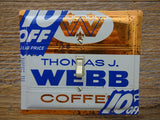 Vintage Thomas J Webb Coffee Tin Switch Plates On Sale