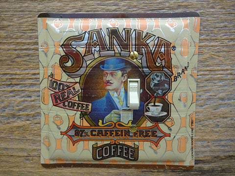 Switch Plates Made From Sanka Caffeine Free Coffee Cameo Tins