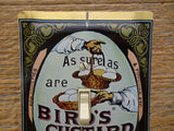 Birds Custard Vintage Advertising Tin Light Switch Plate