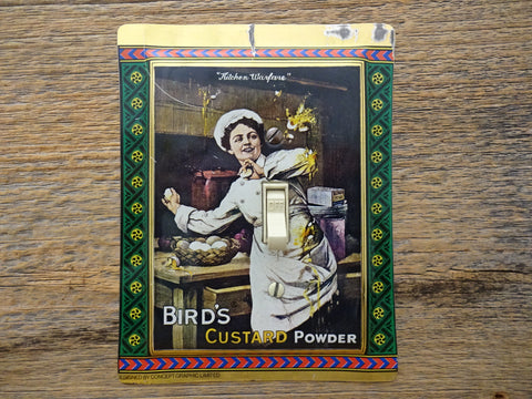 Birds Custard Tin Retro Graphics Light Switch Plate