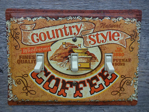 Switch Covers Made From Vintage Coffee Tin Canisters