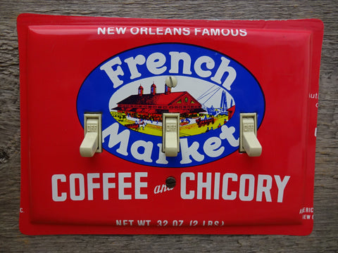 Vintage New Orleans French Market Coffee Tin Switch Plates