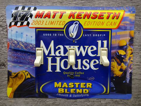 Nascar Switch Plates Made From Maxwell House Coffee Tins 50% Off