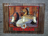 Switch Plate Made From A Redman Federal Duck Stamp Tin