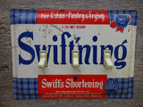 Vintage Swifts Swift'ning Shortening Tins Triple Switch Plates