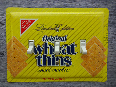 Light Switch Cover Made From A Nabisco Wheat Thins Tin 50% Off