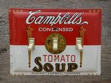 Triple Switch Plates Made From Campbells Tomato Soup Tins