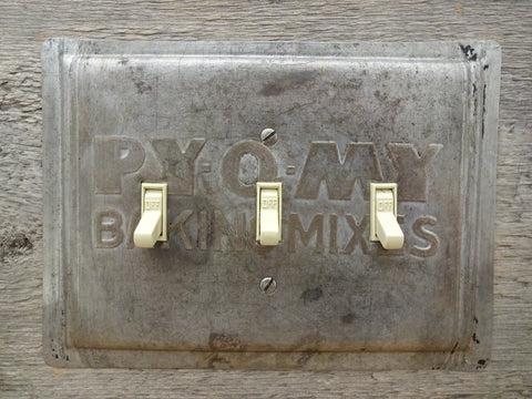 Triple Switch Plates Made From Vintage Py-O-My Baking Pans