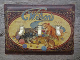 Wilsons Thread Yarn Tins Triple Switch Plates With Kittens