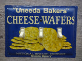 Vintage Switch Plates Made From Antique Nabisco Uneeda Wafers Tins