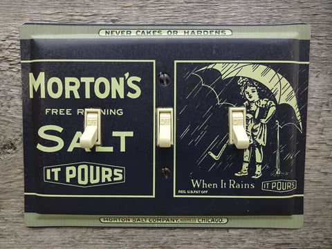 Triple Switch Plates Made From Morton Salt Tins Trivets