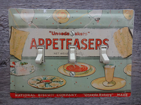 Vintage Switch Plates Made From Uneeda Bakers Appeteasers Tins